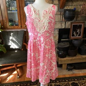 Jessica Howard size 14 pink and whit dress